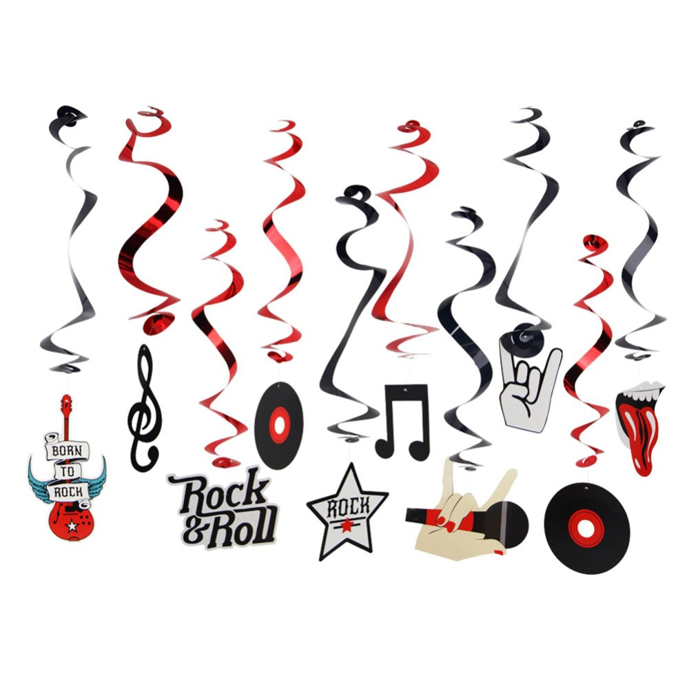 Rock Theme Birthday Party Decoration Kit Rock N Roll Photo Booth