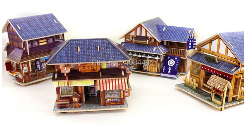 Aliexpress Com Buy Japanese Traditional House Model Building Kits Diy 3d Wooden Puzzles For Adults And Kids From Reliable Puzzle 3d Suppliers On Iq Toys