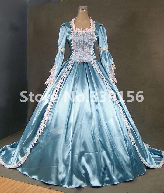 Hot Sale Medieval Renaissance Princess Marie Antoinette Cinderella Victorian Ball Gown Dresses Reenactment Stage Costumes