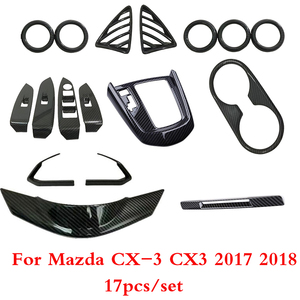For Mazda CX-3 CX3 Dashboard mid console Gear Shift Frame Air Conditioning AC Vents Steering Wheel Panel speaker Cover Trim(China)