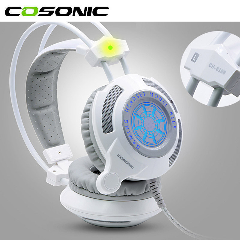купить Cosonic G9 Professional Stereo Surround Bass Gaming Headset Wired USB 3.5mm Vibration Function Headphone With Mic Computer Gamer недорого
