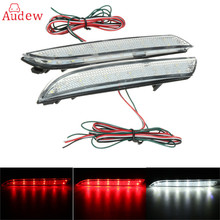 2Pcs 24 LED Rear Bumper Reflector Tail Brake Stop Running Turning Light Fog Lamp For Honda/CR-Z/CR-V