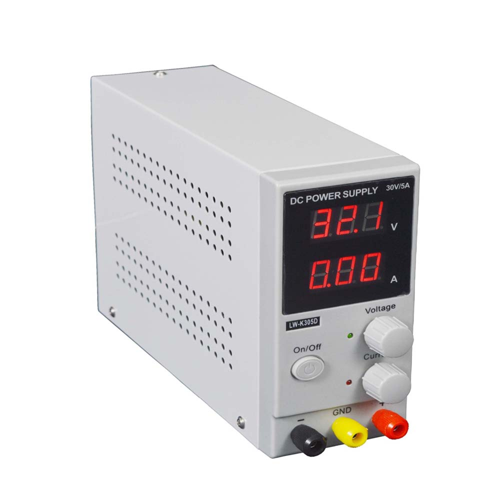 30V 5A LW-K305D Adjustable Power Switching PowerDC Power Supply LED Display Mini Switching Regulated Adjustable DC Power Supply four digit display rps3003c 2 adjustable dc power supply 30v 3a linear power supply repair