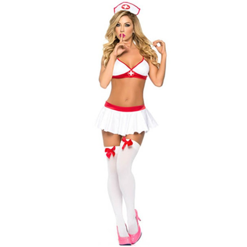 High Dose Nurse Lingerie Costume Mini Skirt Adjustable Straps and Hook and Eye Back Sexy Nurse Costume with Headpiece L15217 L15217 800x800