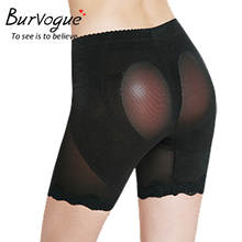 Burvogue 2016 New Silicone Padded Panties Lace Shaperwear Butt Lift Shaper Enhancer Underwear For Women Slimming Thigh and Waist