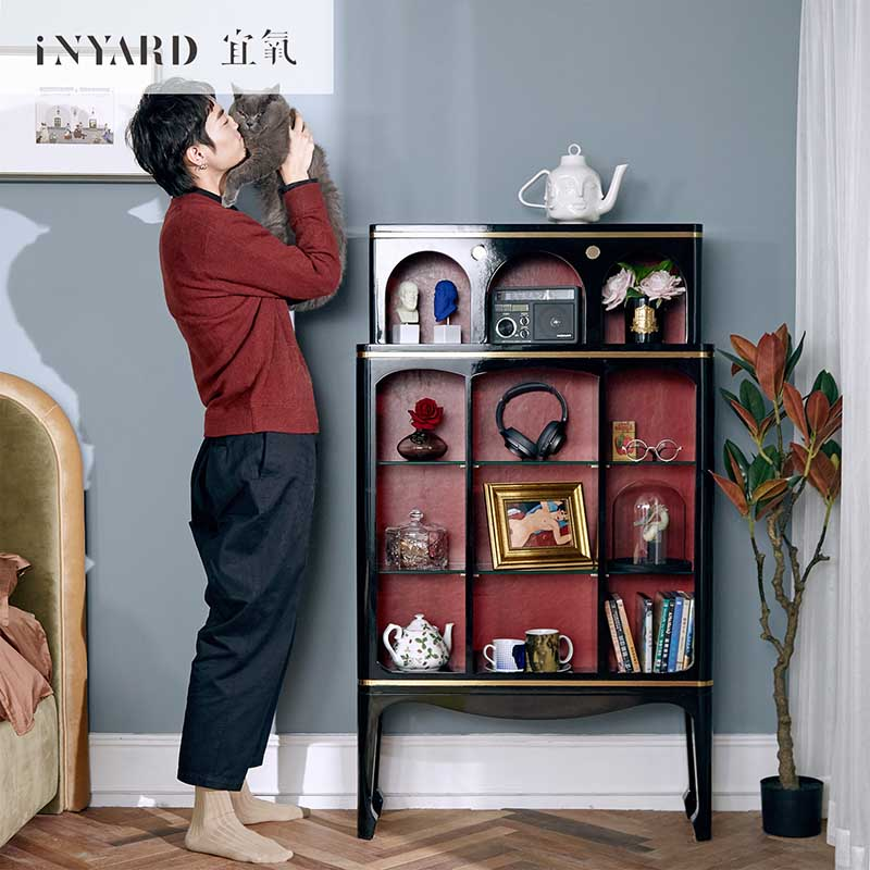 Meuble de beauté Inyard Rouge meuble d'entrée salon