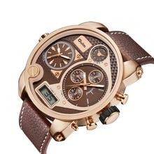 2018 reloj hombre deportivo OULM Men Watches Fashion Sports Dual Display Analog Digital Quartz relogio masculino