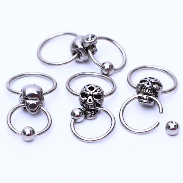 1 Piece Titanium Captive Hoop Nipple Rings