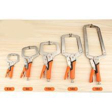 Multi-function Сталь C Тип клип тиски сцепление блокировки плоскогубцы заготовки для деревообработки зажимы 6 «, 9», 11 «, 14», 18 «дюймов зажим для лица