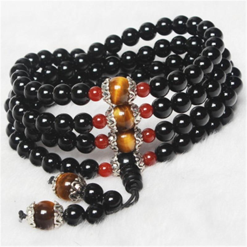 Натуральний камінь чорний агатовий - Вишукані прикраси