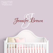 Lovely Custom Name Wall Sticker DIY Name Wall Decal Removable Easy Wall Decoration Personalized  Wall Mural 519C Part 31