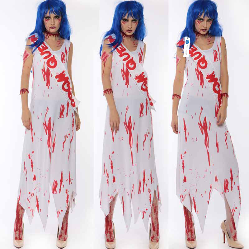 ManLuYunXiao 2017 Cosplay Mummy Vampire Witch Costume Halloween Ghost Bride Party Uniforms Horror Theme Christmas Women