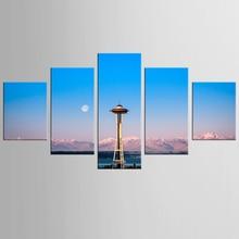 Framed 5 Panels Canvas Print Painting landscape art prints Modern Wall Art for Picture Home Decor Artwork-QJFJ/1081