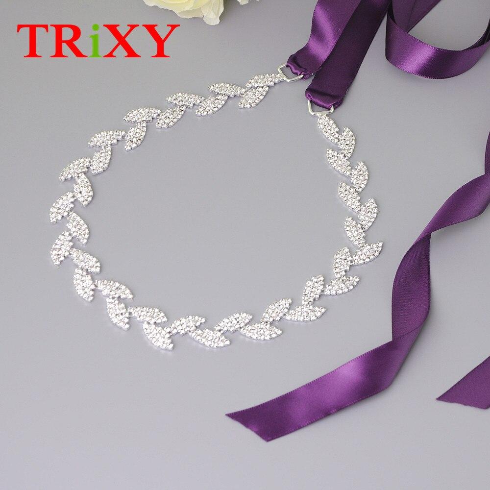 Alarm Trixy S198-s Vrouwen Satin Strass Kralen Wedding Riem Steentjes Bridal Riemen Avondfeest Prom Jurken Accessoires