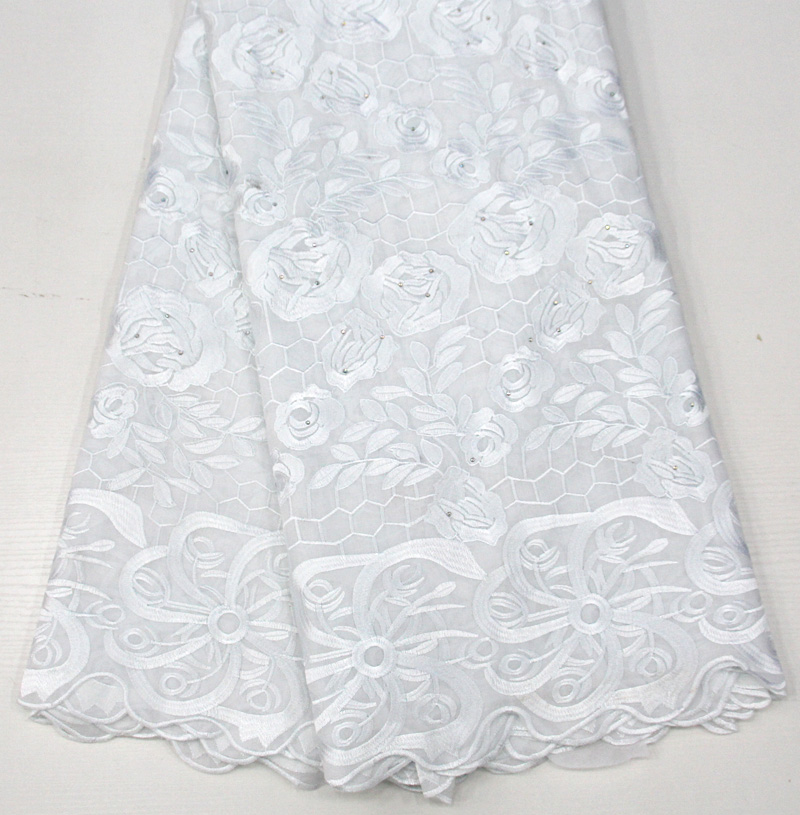 Amazing pure white african lace fabrics high quality african swiss voile lace fabric with stones for wedding dressAmazing pure white african lace fabrics high quality african swiss voile lace fabric with stones for wedding dress