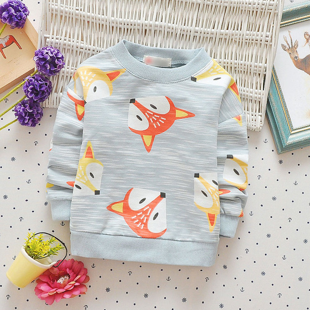 Foxes Printed Sweatshirt for Boys
