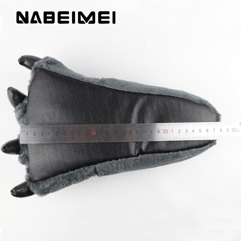 Mode Griffes Ladies D'ours Chaussures Côtelé black Beige Totem blue Femmes Synthétique Home Taille Drôle coffee Femme En Grande gray Solide 46 De Pantoufles Velours 39 q8PwvX