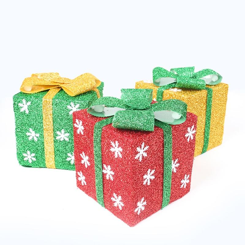 cm plegable caja de regalo de navidad rbol de navidad adornos