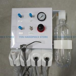 Canudo portátil de laboratório dental de boa qualidade, unidade de sucção fraca, compressor de ar, 3 vias