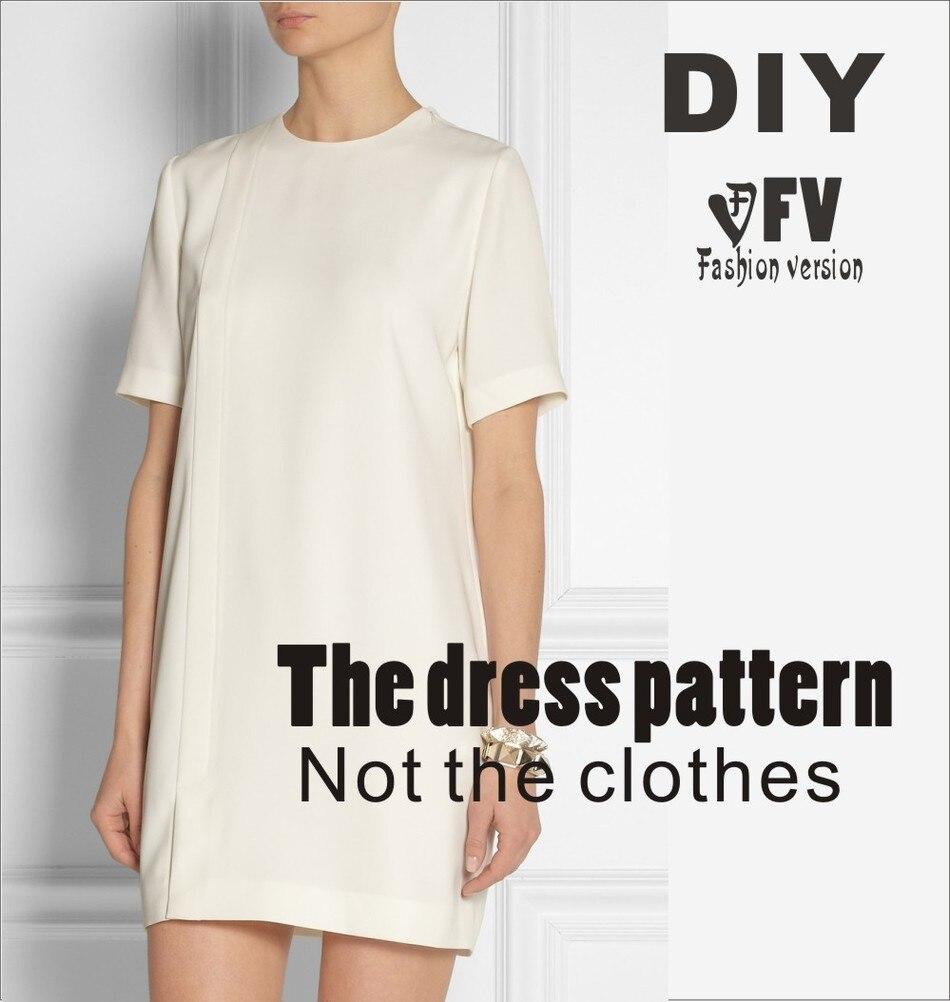 ⊰Ropa DIY El vestido Vestidos de Patrón de Costura de corte dibujo ...
