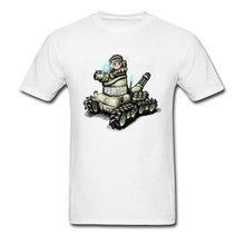 e62d67890 Cool Dominion Tank Police Cartoon T-shirts Cotton White Men Tee Shirt Short  Sleeve Simple Style Group Custom Uniforms