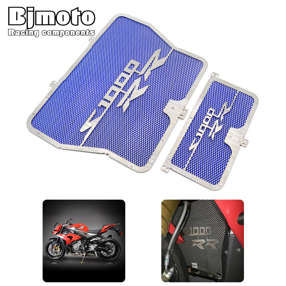 Free drop shipping Stainless steel Motorcycle Radiator Guard Cover Grille Protector for BMW S1000R S1000RR HP4 S1000XR rg bm001 motorcycle radiator grille protective cover stainless steel radiator guard protector for bmw s1000r s1000rr hp4 s1000xr