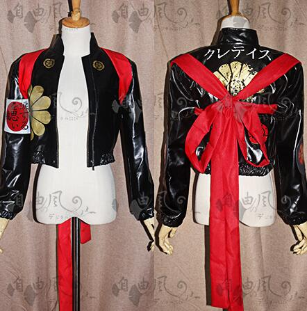 2016 Suicide Squad katana Cosplay Costume Faux Leather Jacket