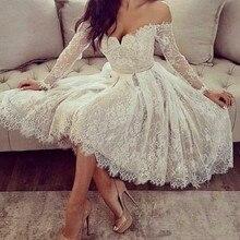 lace evening gown Short Off Shoulder Lace Applique prom Dresses crisscross front lace applique cold shoulder tee