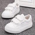 Zapatos blancos 2016 de primavera y otoño de color sólido zapatos de bebé 1-2-3 años de edad los niños zapatos