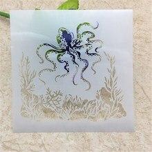 Layering-Stencils Crafts Octopus Embossing Paper-Cards Decorative Scrapbooking/photo-Album