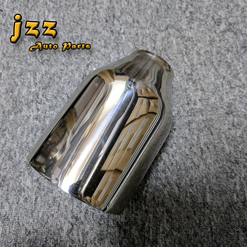 JZZ COZMA 51mm inlet Universal Fits Car Stainless Steel Car Exhaust tail car pipe for golf 6