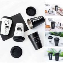 Wiederverwendbare Keramik Brief Reise Becher Silikon Deckel Knochen China Tassen Reise Becher Tee Kaffee Tragbare Tassen