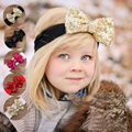 Fancy Baby Hair Bands Girls Big Bow Hair Band Baby Head Wrap Headband Accessories hair accessories Christmas gift Q3