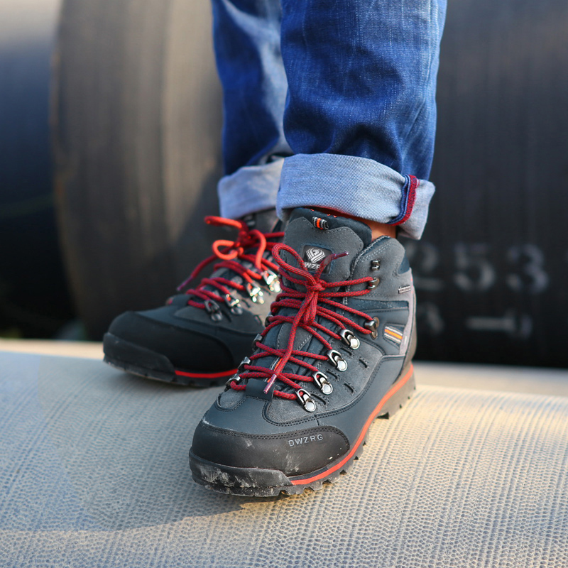 Chaussures de randonnée pour hommes chaussures en cuir imperméables chaussures d'escalade et de pêche nouvelles chaussures de plein air populaires - 6