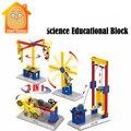 Minitudou niños del proyecto de feria de ciencias enseñanza de ladrillo bloques de construcción de juguetes educativos diy kits modelo plásticos
