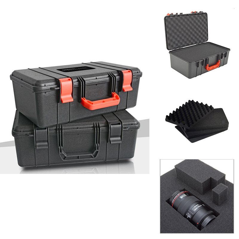 450 270 160mm Protective Toolbox Plastic Tool Case Safety Instrument Tool Box Sealed Equipment Tool Box