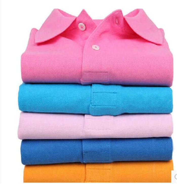 14 لون 2017 جديد نقي اللون القطن قصير الأكمام الصيف الرجل والمرأة قميص تنفس ملابس العمل AU0024