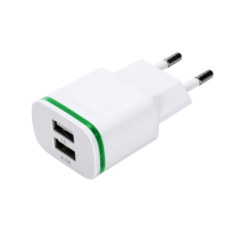 5v 2 1a Dual Usb Wall Travel Charger Adapter With Europe