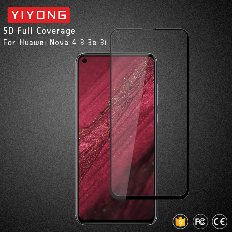 25pcs lot YIYONG 5D Full Cover Glass For Huawei Nova 4 4E Tempered Glass Screen Protector