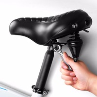INBIKE Bike Saddle Quilted Wide Commuter Bicycle Seat Shock Resistant MTB Road Bike Saddle Cushion S16286