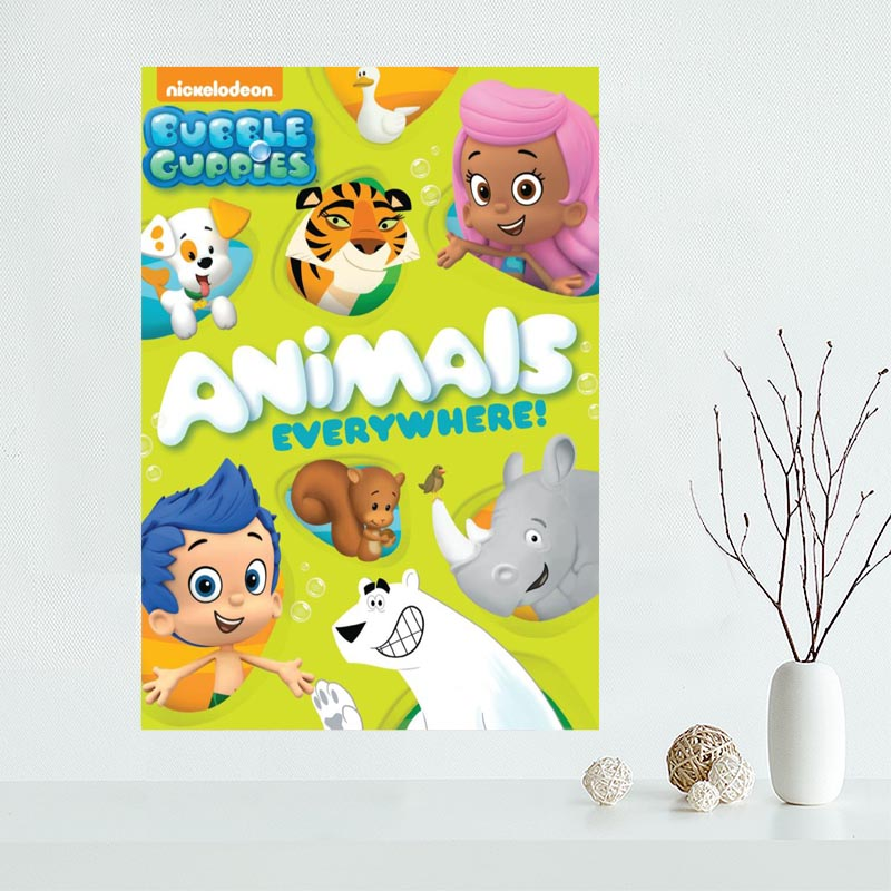 Nice Custom Bubble Guppies Canvas Poster Print painting Art Wall ...