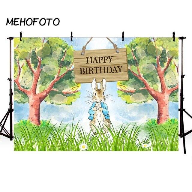 peter rabbit theme photography backdrops happy birthday jungle party