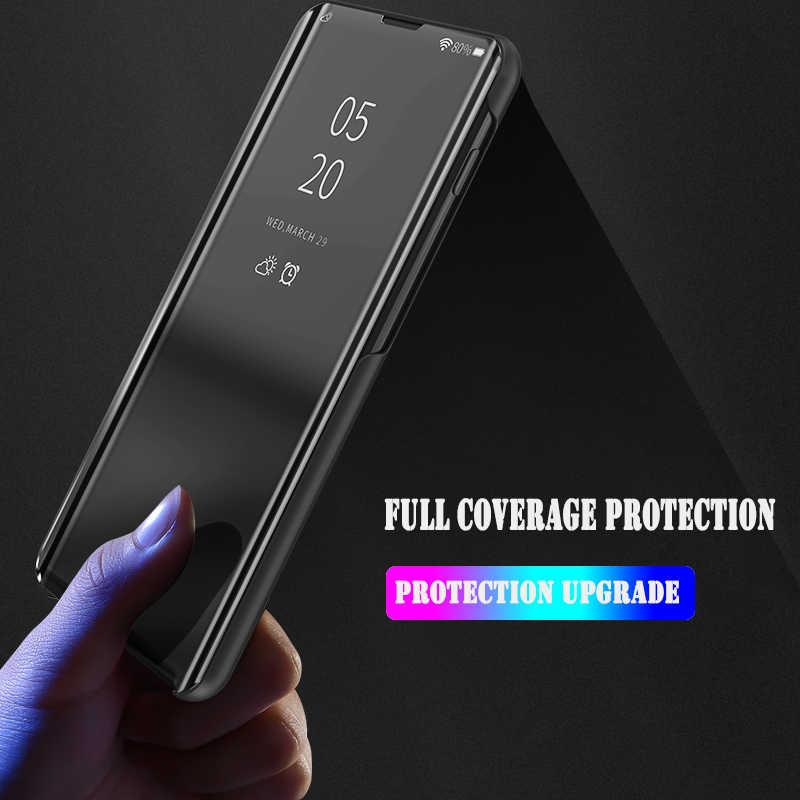 Умный зеркальный флип-чехол для телефона Samsung Galaxy M30 S10 S9 S8 Plus S7 S6 Edge S10E Прозрачный чехол для Samsung Note 9 8 5 чехлы