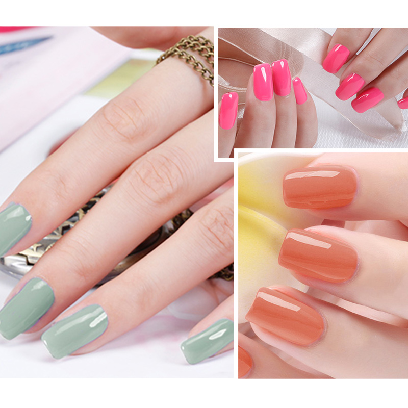Ellwings 2pcs Top Coat & Base Gel Shiny Nail Polish Long Lasting ...