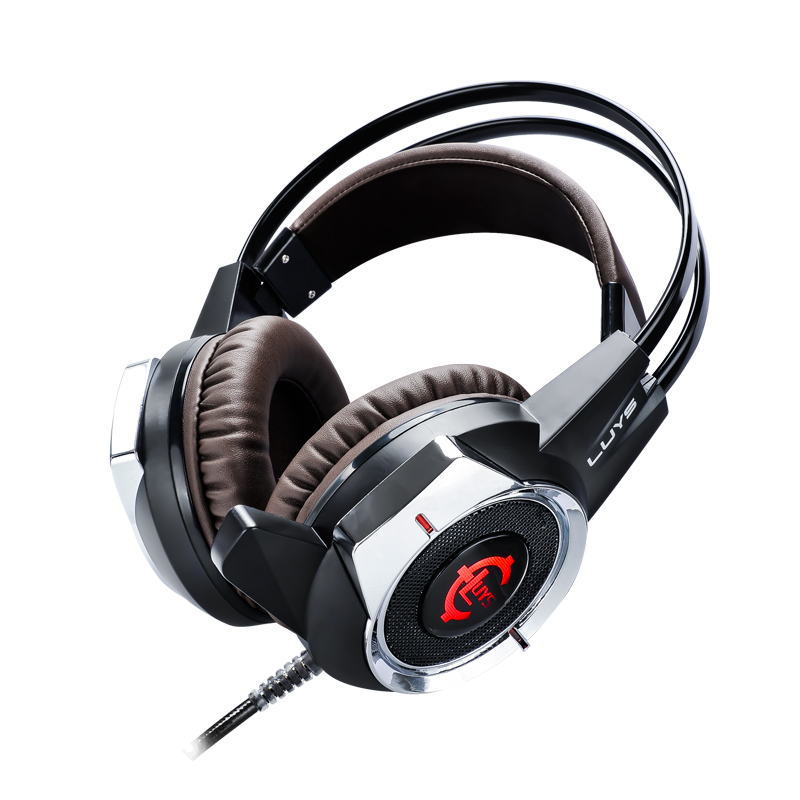 Original Gaming Headset Deep Bass Computer Game Headphones with microphone LED Light Glowing for computer PC Gamer W 3 5mm universal gaming over ear headset earphones computer game headphones with microphone for gamer stereo bass for computer pc