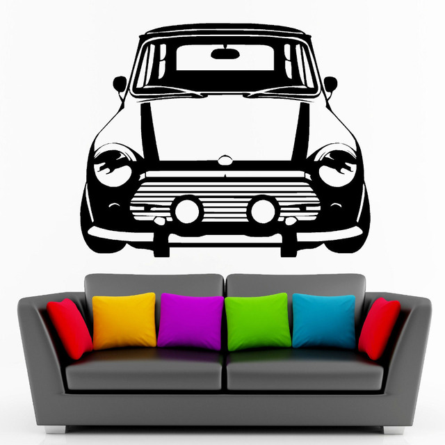 CLASSIC MINI COOPER Vinyl Wall Art Car Sticker Room Decal Car Creative Wall Stickers for Kids  sc 1 st  AliExpress.com & CLASSIC MINI COOPER Vinyl Wall Art Car Sticker Room Decal Car ...