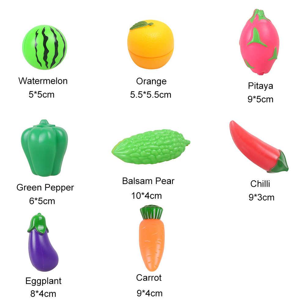 Dziecko dzieci wielokrotnego użytku udawaj do odgrywania ról gotowanie owoce warzywa jedzenie cięcie zabawki dla dzieci Girlls prezent