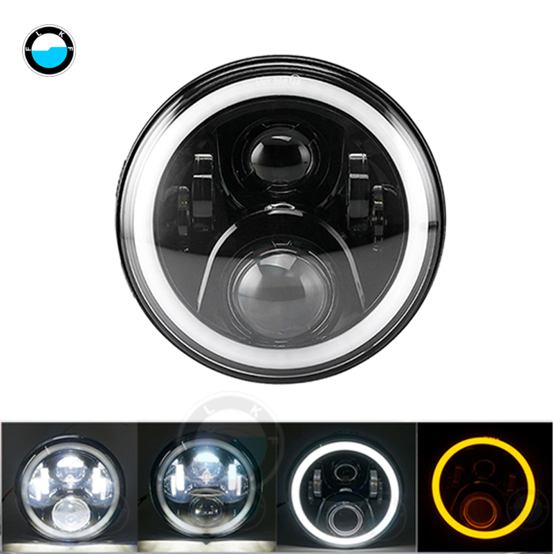 1 pcs 7 inch Motorcycle LED Headlight for Harley Davidson Daymaker Motorcycle Touring Electra Glide 7 LED headlght.