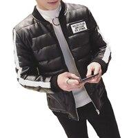 2017 מגמת אופנה חדשה בסגנון נוער להיט טרי הקטן טהור תווית את צבע עור קוריאני מעיל דק מעיל עור אופנוע מעיל