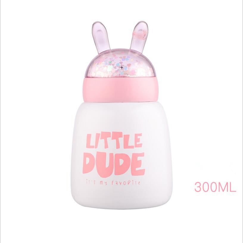 300ML Creative Cute Unicorn Bear Rabbit mug Cups mug Mini vacuum flask Tea bottle Thermos cup stainless steel thermos coffee mug in Vacuum Flasks Thermoses from Home Garden